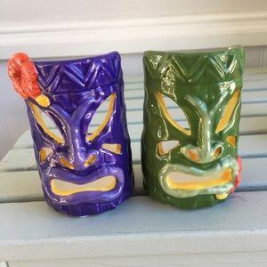 NWOT Yankee Candle Tiki Men Tea Light Holders